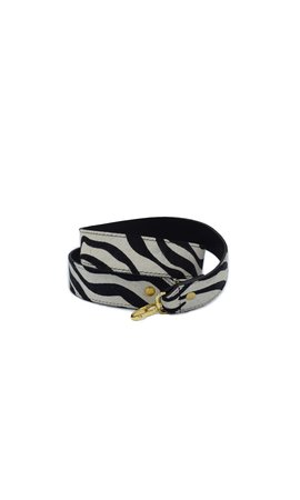 Number Five Long Bagstrap zebra/goud