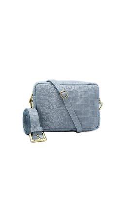 Number Five Lot Bag Croco Licht Blauw