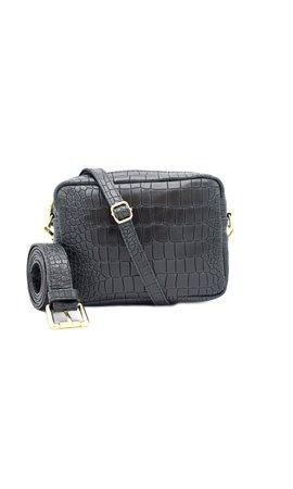 Number Five Lot Bag Croco Zwart