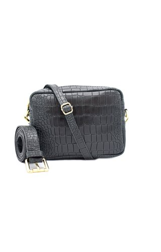 Number Five Lot Bag Croco Zwart