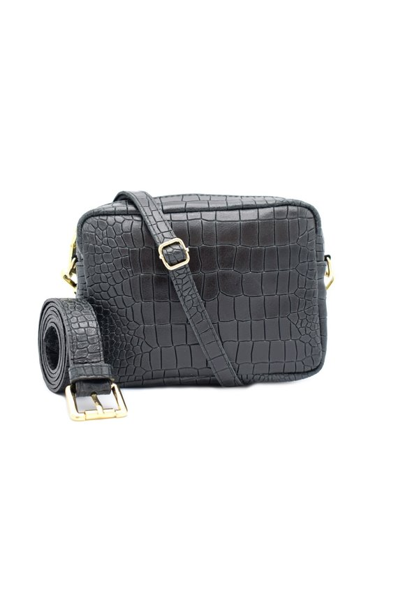 Lot Bag Croco Zwart