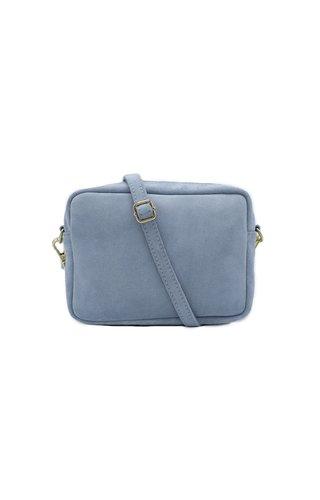 Number Five Lot Bag Suède Licht Blauw