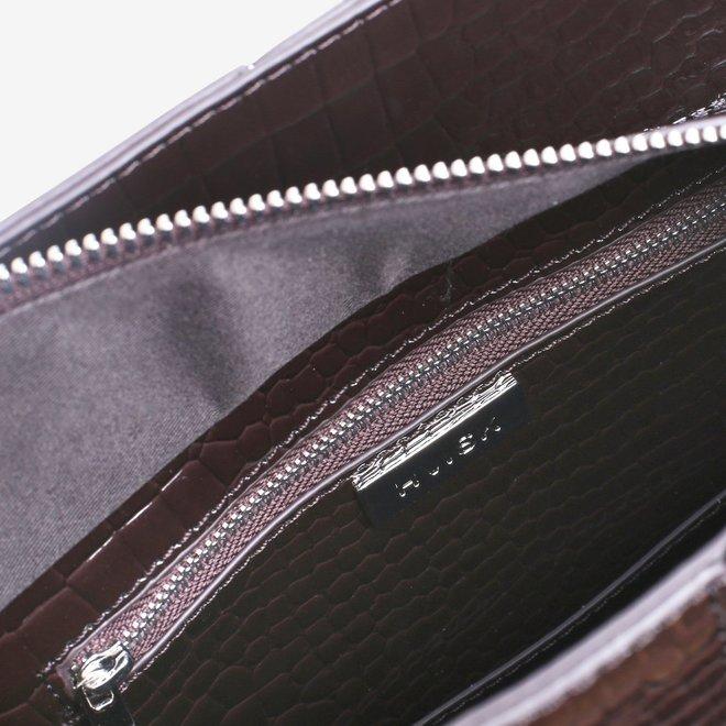 Casset Croco Dark Brown