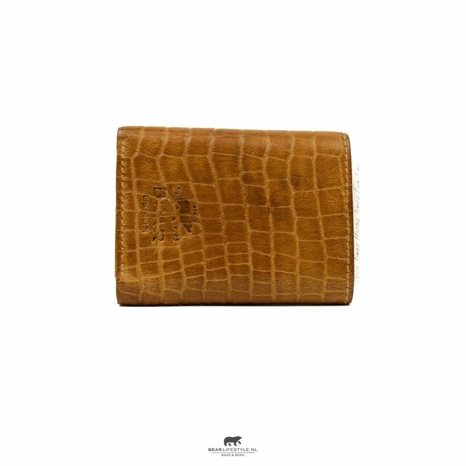 Croco Mini Wallet Geel