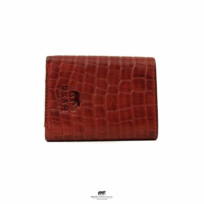 Croco Mini Wallet Rood