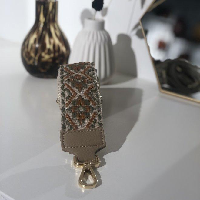 Aztec Bag Strap Sage/taupe