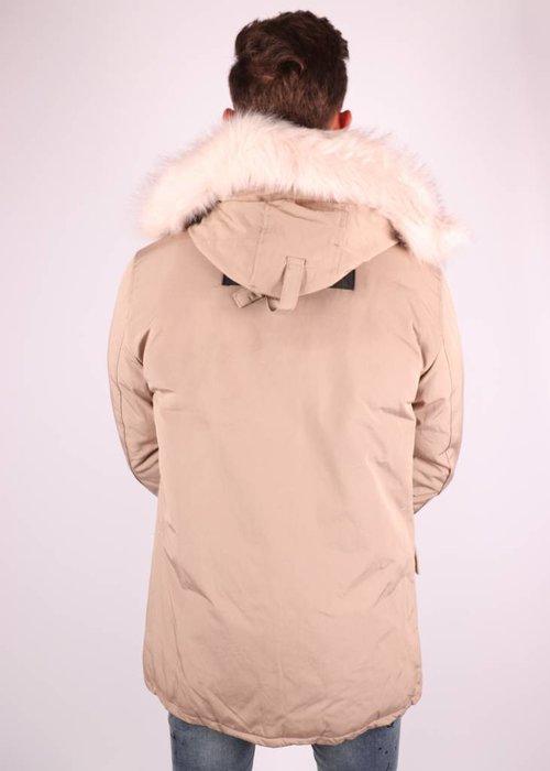 Trendy Winterjas Heren.Heren Winterjas Beige Magnetwear