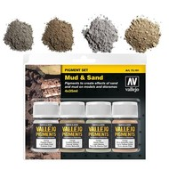 "Vallejo Vallejo Pigment set 1 ""Mud & Sand"""