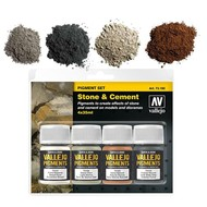 "Vallejo Vallejo Pigment set 2 ""Stone & Cement"""