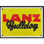 Lanz Bulldog emaille reclame bord 14x10cm