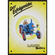 Lanz Bulldog tractor emaille reclame bord 10x14cm