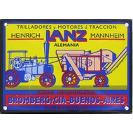 Lanz tractor emaille reclame bord 10x14cm