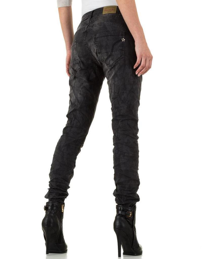 Damen Jeans von Place Du Jour dunkelgrau