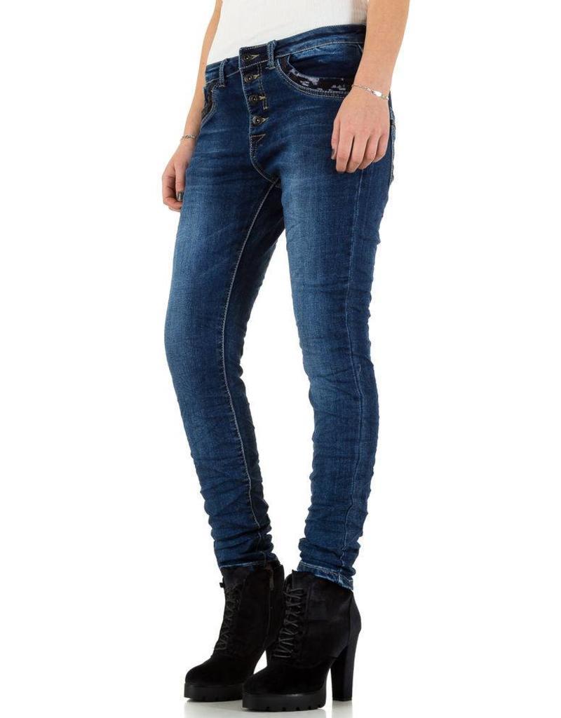 Damen Jeans von Place Du Jour blau