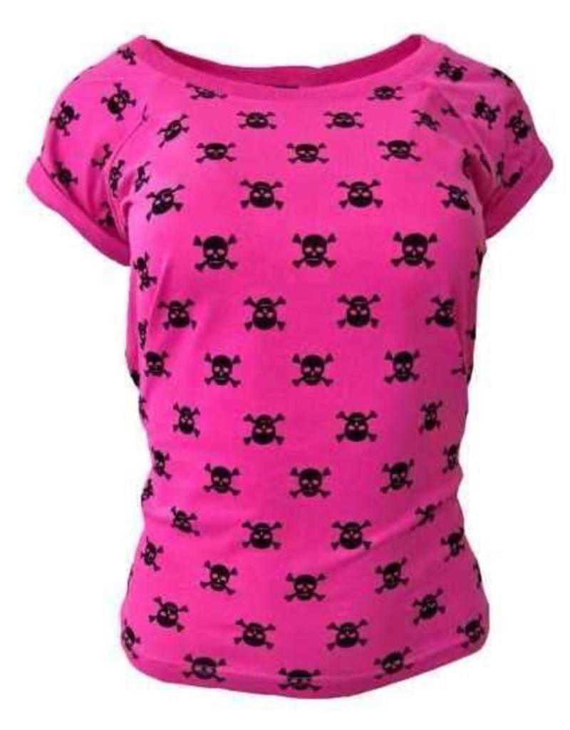 "Damen T-Shirt ""Totenkopf"" in pink"