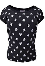 """Damen T-Shirt """"Totenkopf"""" in schwarz"""