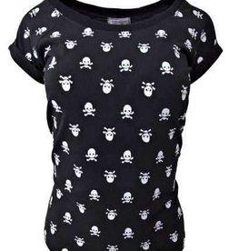 "Damen T-Shirt ""Totenkopf"" schwarz"