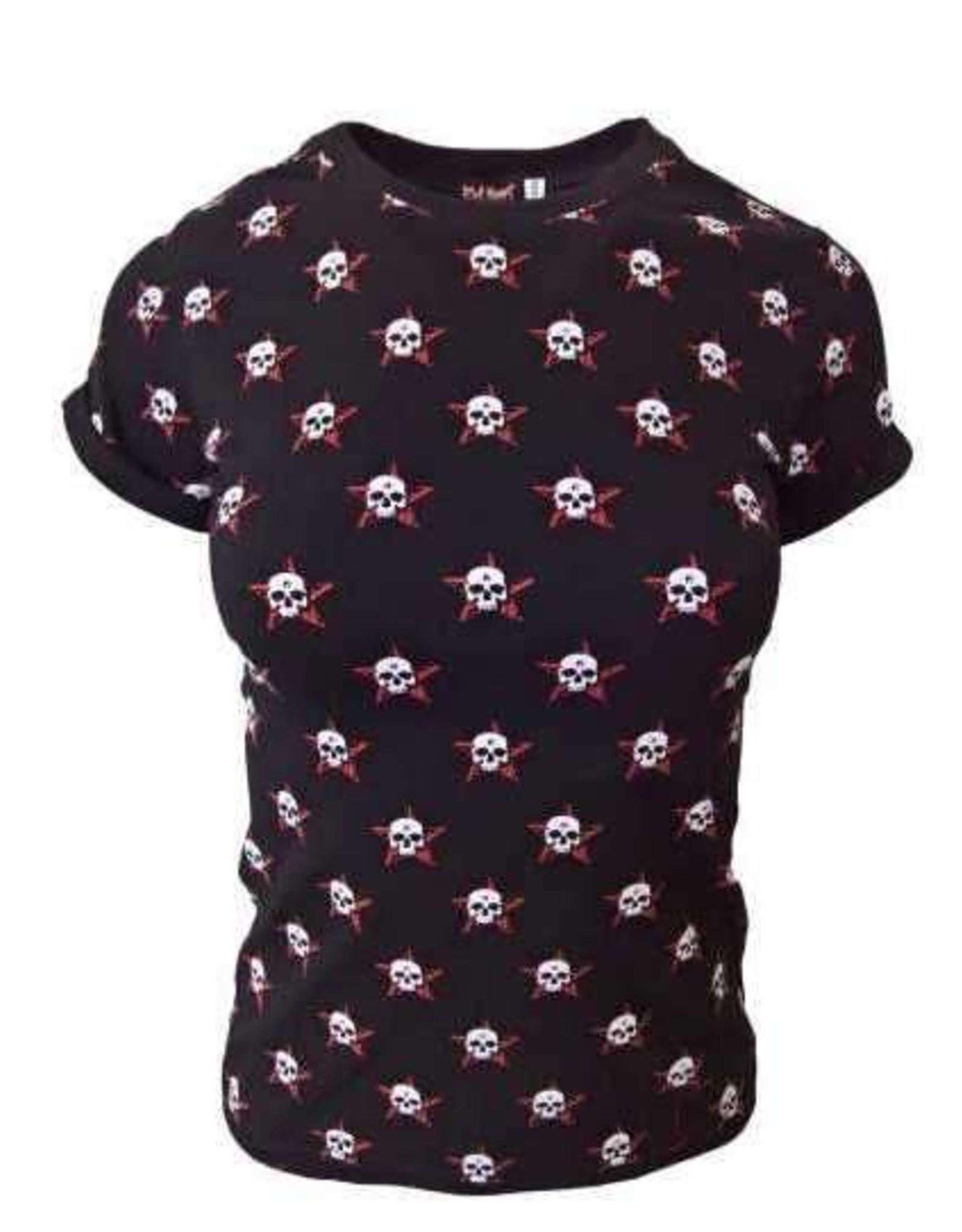 """Damen T-Shirt """"Rockabella"""" in schwarz"""