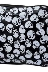 Totenkopf College Schultertasche in schwarz