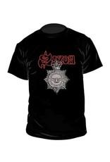Saxon Denim And Leather T-Shirt