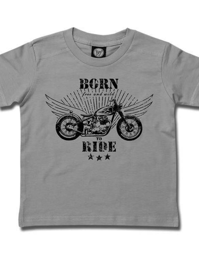born to ride grau Kids T-Shirt