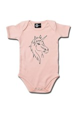Beauty Einhorn - Baby Body rosa