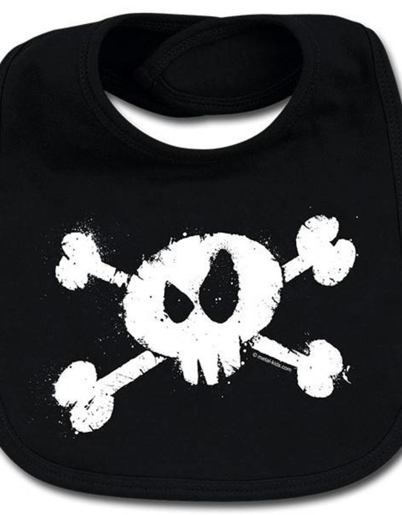 splashed skull - Lätzchen - Baby Lätzchen - Für unersättliche Nachwuchsrocker!  - Copy - Copy