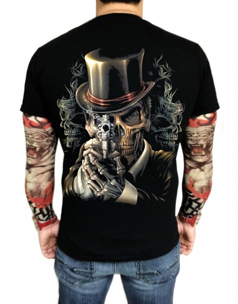 Biker T-Shirt Legendärer Zylinder (Glow in the Dark)