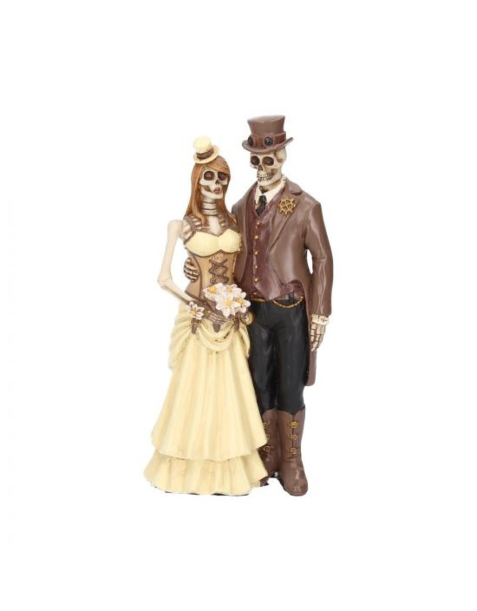 Steam Punk Skelett Brautpaar -Ja, ich will