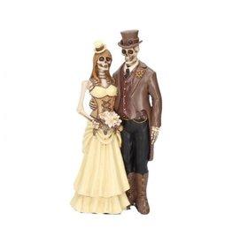 Skelett Brautpaar Steam Punk