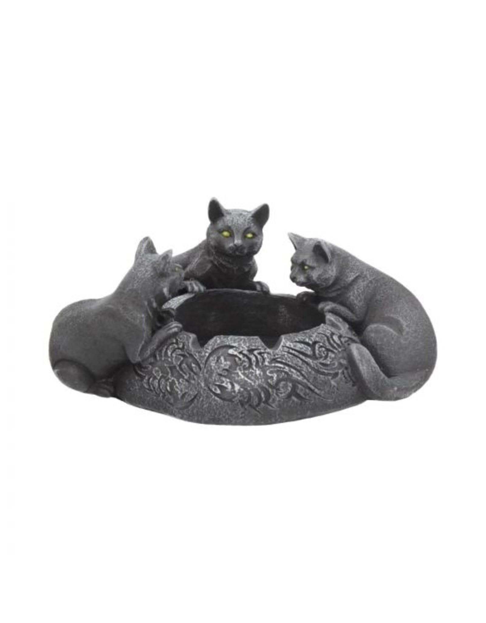 Katzen Trio Aschenbecher 17,7 cm