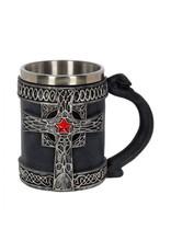 Mittelalter Krug mit Kreuz