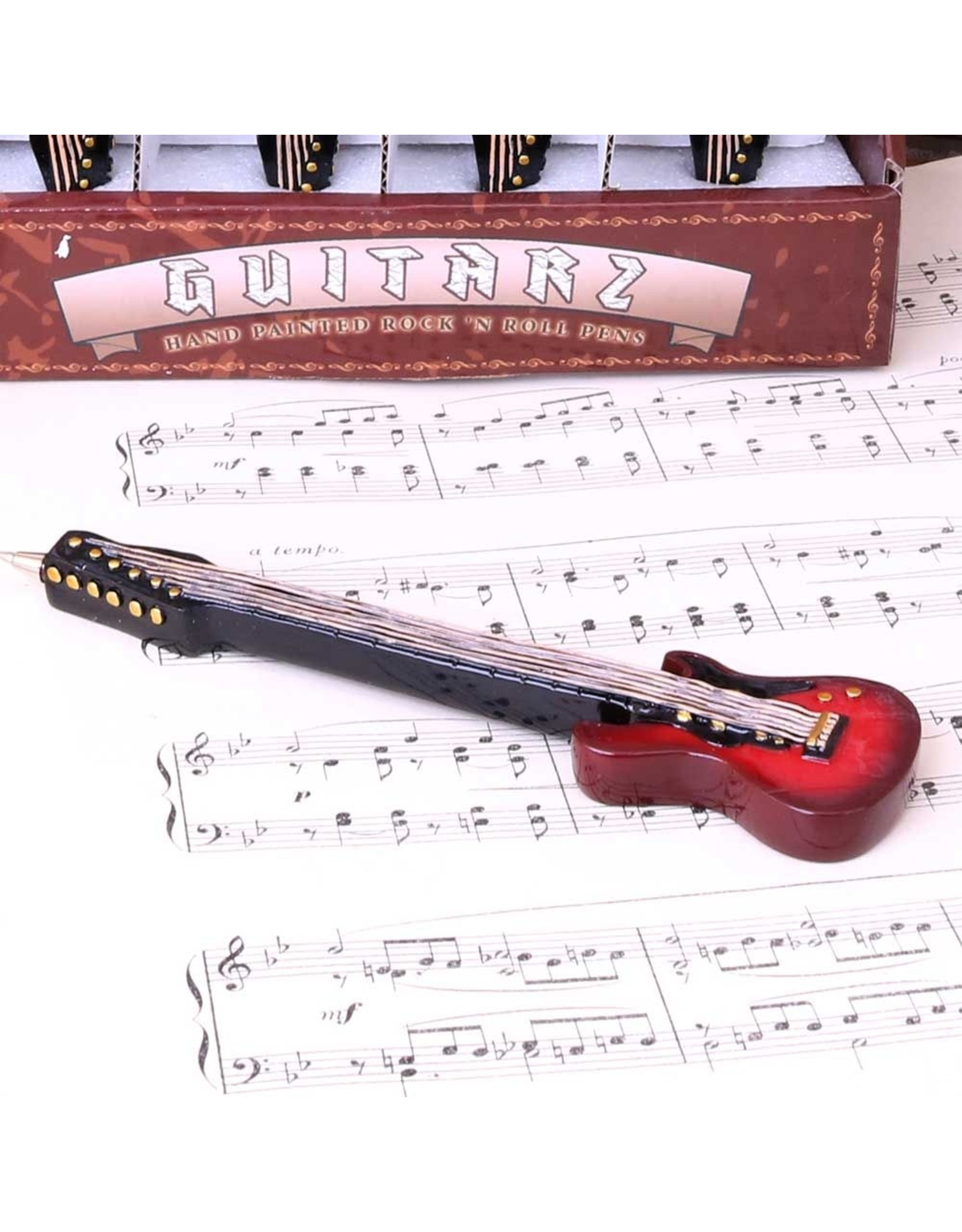 Gitarre Kugelschreiber 16cm in 4 Farben
