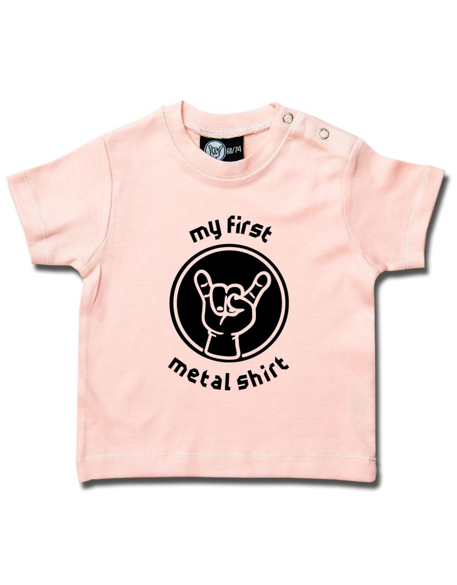 Metal Kid my first metal shirt - Baby T-Shirt hellrosa
