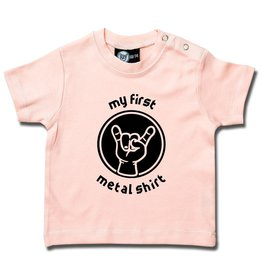 Metal Kid my first metal shirt - Baby T-Shirt hellrosa