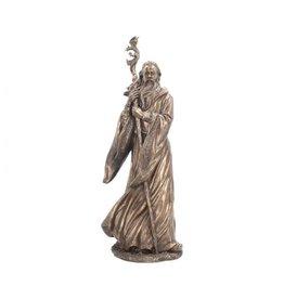 Große Merlin Bronze Figur