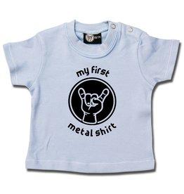 Metal Kid my first metal shirt - Baby T-Shirt hellblau