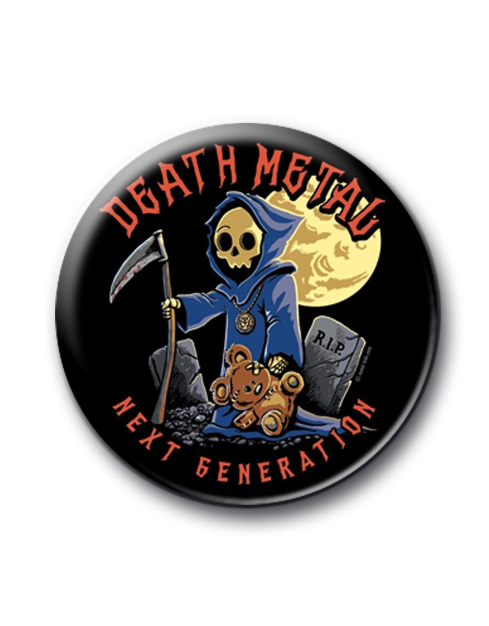 Death Metal Death Metal Button 25mm