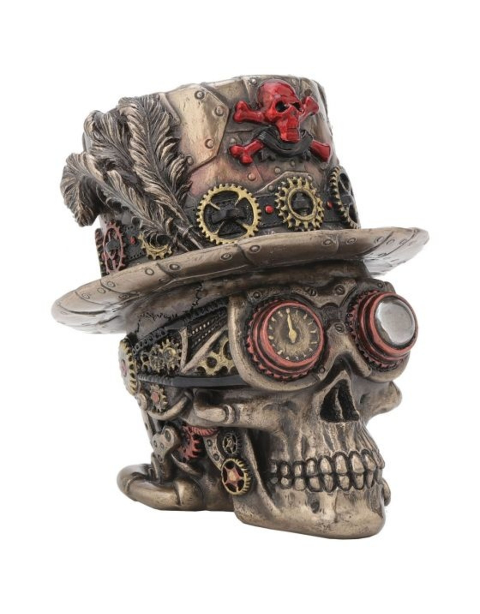 Nemesis Now Steampunk Totenkopf - Clockwork Baron 11 cm