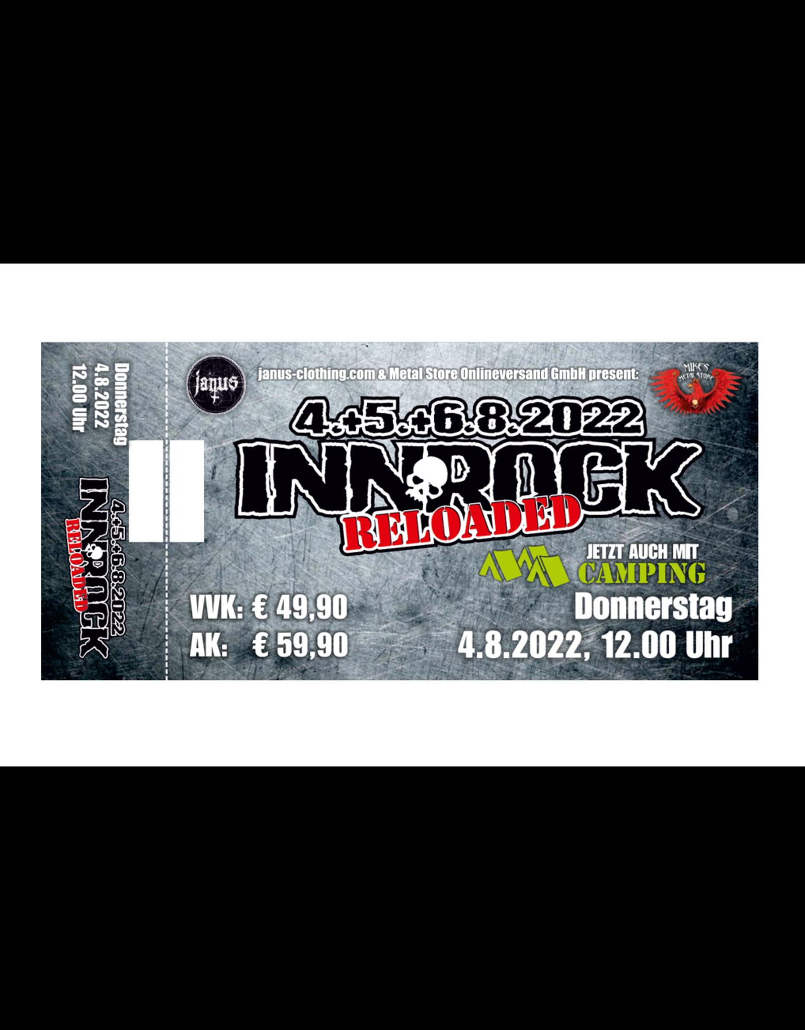 """Ticket fürs """"INNROCK reloaded"""" für Donnerstag, 04. August 2022"""