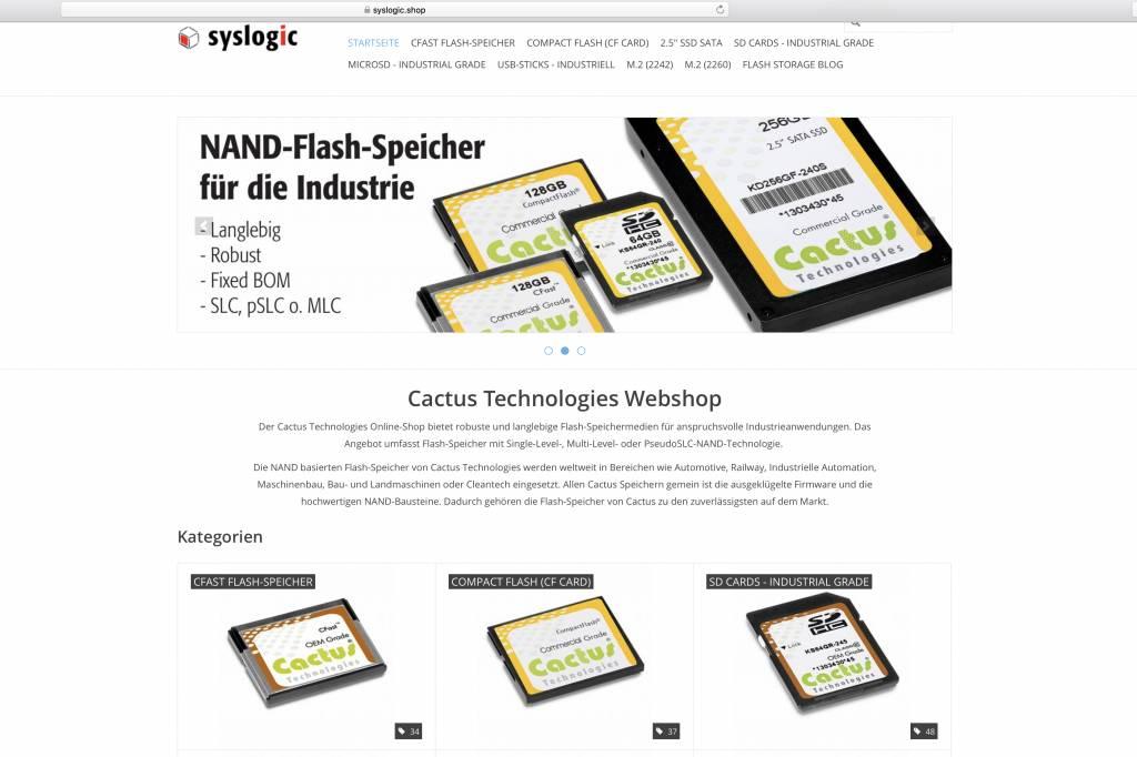 Syslogic lanciert eigenen Online-Shop für SSD-Speicher