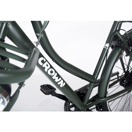 Crown Berlin 28 inch stadsfiets 53cm 7v Zwart