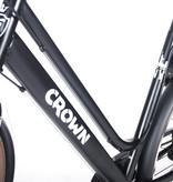 Crown New York 28 inch Damesfiets 49cm 7v Zwart