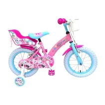 OJO Kinderfiets - Meisjes - 14 inch - Roze - 2 handremmen