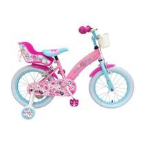 OJO Kinderfiets - Meisjes - 16 inch - Roze - 2 handremmen