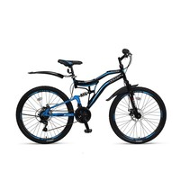 Umit Stitch 26 inch 21v MTB Zwart Blauw