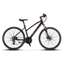 Mosso Legarda MTB 28 inch 24v  41cm Zwart-Roze