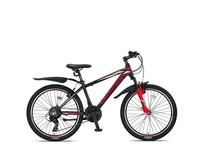 Umit Mirage Mountainbike 24 inch 21v Zwart Rood