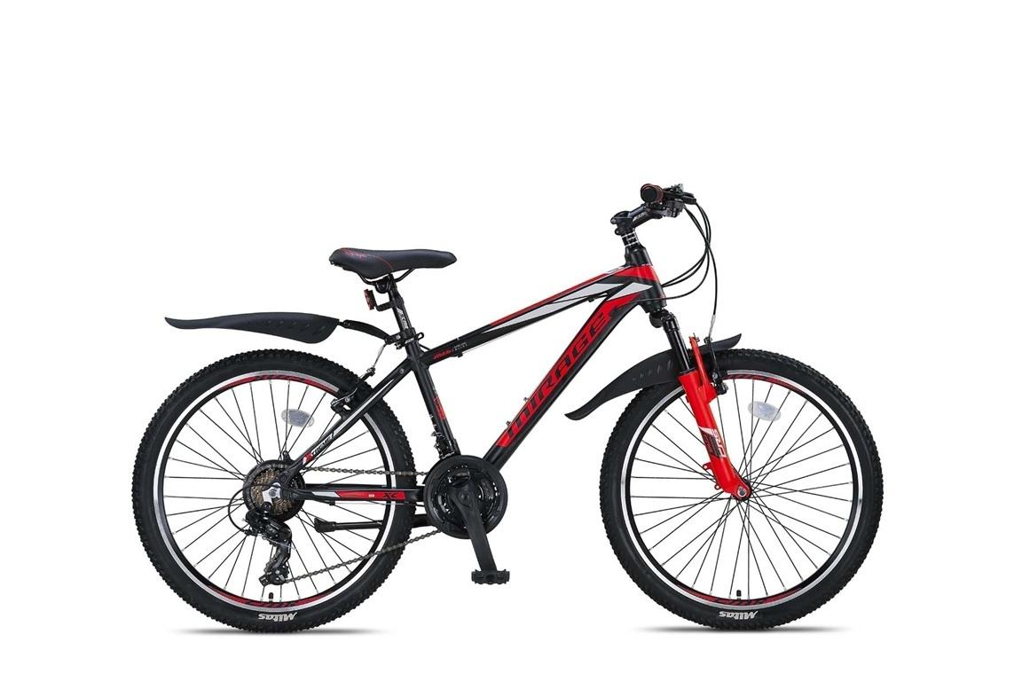 Altec Umit Mirage Mountainbike 24 inch 21v Zwart Rood