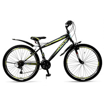 Umit Faster Mountainbike 26 inch 21v Zwart Lime